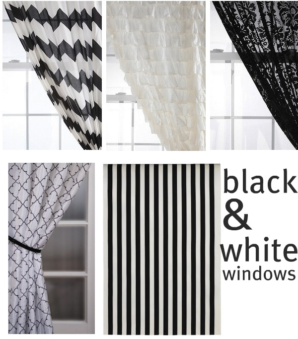 White Curtains black and white curtains : Black And White Ruffle Curtains - Best Curtains 2017
